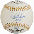 "Autographs:Baseballs, Derek Jeter ""3x GG"" Gold Glove Single Signed Baseball...."