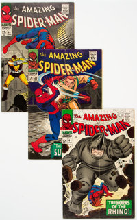 The Amazing Spider-Man Group of 8 (Marvel, 1966-68) Condition: Average VG.... (Total: 8 Comic Books)