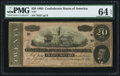 Confederate Notes:1864 Issues, T67 $20 1864 PF-6 Cr. 507 PMG Choice Uncirculated 64 EPQ.. ...