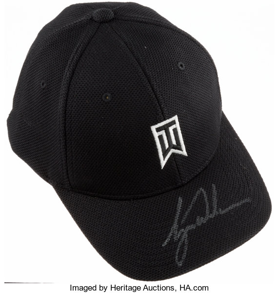Tiger Woods Signed Nike Hat. Branded with his iconic logo 5e717da0a64