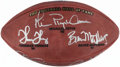 Autographs:Footballs, 2007 Pro Football Hall of Fame Class Multi-Signed Limited EditionFootball (5 Signatures)....