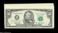 Small Size:Federal Reserve Notes, Fr. 2125-A, B (4), B*, D (2), D*, E, G (2), G*, J $50 1993 Federal Reserve Notes. Choice Crisp Uncirculated or Better.... (14 notes)