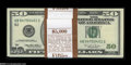 Small Size:Federal Reserve Notes, Fr. 2126-B $50 1996 Federal Reserve Notes. Three Original Packs of 100. Gem Crisp Uncirculated.... (300 notes)