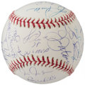 Autographs:Baseballs, 1978 New York Yankees - World Series Champs - Team Signed Reunion Baseball (20 Signatures)....