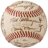 1971 New York Yankees Team Signed Baseball with Thurman Munson (23 Signatures)