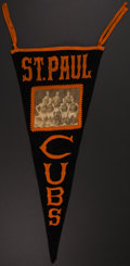 Basketball Collectibles:Others, c. 1910s St. Paul Cubs Basketball Oversized Pennant....
