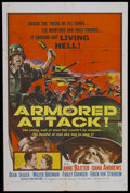 "Movie Posters:War, Armored Attack (NTA, 1957). One Sheet (27"" X 41""). War. This filmis a re-edited version of ""The North Star"" (1943). Starrin..."