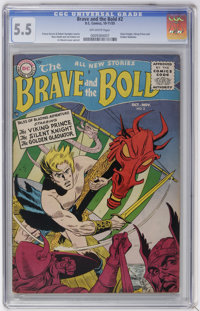 The Brave and the Bold #2 The Viking Prince, The Silent Knight, and The Golden Gladiator (DC, 1955) CGC FN- 5.5 Off-whit...