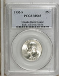 1952-S 25C MS65 PCGS. PCGS Population (590/747). NGC Census: (310/892). Mintage: 13,707,800. Numismedia Wsl. Price for N...