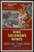 "Movie Posters:Adventure, King Solomon's Mines (MGM, 1950). One Sheet (27"" X 41""). RomanticAdventure. Starring Deborah Kerr, Stewart Granger, and Ric..."
