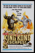 "Movie Posters:Science Fiction, King Kong Escapes (Toho, 1967). One Sheet (27"" X 41""). Sci-Fi/Horror. Starring Rhodes Reason, Linda Miller and Mie Hama. Dir..."