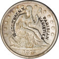 Counterstamps: , Counterstamped Seated Liberty Half Dollar Group Lot. Three half dollars: an 1853 Arrows and Rays counterstamped F. Steber Wa... (Total: 3 tokens)