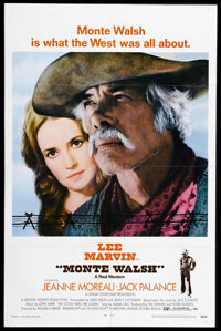 "Monte Walsh (National General, 1970). One Sheet (27"" X 41""). Western. Starring Lee Marvin, Jeanne Moreau, and..."
