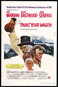 "Paint Your Wagon (Paramount, 1969). One Sheet (27"" X 41""). Musical Comedy. Starring Clint Eastwood, Lee Marvin..."