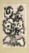 Texas:Early Texas Art - Impressionists, JOSEPHINE MAHAFFEY (American, 1903-1982). Untitled floral. Mixedmedia on paper, mounted on mat board. 7.5in. x 4-1/4in.. ...