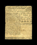 Colonial Notes:Delaware, Delaware March 1, 1758 20s Fine. This is an ideal example for the grade with a slightly stronger face than back. It appears ...
