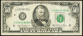 Error Notes:Miscellaneous Errors, Misaligned Back Printing Error Fr. 2120-H $50 1981 Federal Reserve Note. Very Fine.. ...