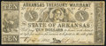 Obsoletes By State:Arkansas, (Little Rock), AR- State of Arkansas $10 Apr. 11, 1862 Cr. 54 Very Good-Fine.. ...