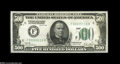 Small Size:Federal Reserve Notes, Fr. 2200-F $500 1928 Federal Reserve Note. Crisp Uncirculated....