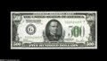 Small Size:Federal Reserve Notes, Fr. 2200-G $500 1928 Federal Reserve Note. Choice Crisp Uncirculated....