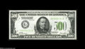Small Size:Federal Reserve Notes, Fr. 2200-G $500 1928 Federal Reserve Note. About Uncirculated....