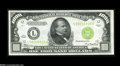 Small Size:Federal Reserve Notes, Fr. 2211-L $1000 1934 Federal Reserve Note. Light Green Seal Choice Crisp Uncirculated....