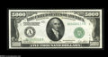 Small Size:Federal Reserve Notes, Fr. 2220-A $5000 1928 Federal Reserve Note. Gem Crisp Uncirculated....