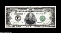 Fr. 2230-E $10000 1928 Federal Reserve Note. Choice Crisp Uncirculated. A spectacular start to this utterly extraordinar...