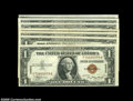 Small Size:World War II Emergency Notes, A Selection of $1 Hawaii Notes by Blocks... (7 notes)