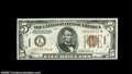 Small Size:World War II Emergency Notes, Fr. 2301* $5 1934 Mule Hawaii Federal Reserve Note. AboutUncirculated....