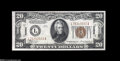 Small Size:World War II Emergency Notes, Fr. 2304 $20 1934 Hawaii Mule Federal Reserve Note. Choice CrispUncirculated....