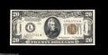 Small Size:World War II Emergency Notes, Fr. 2304* $20 1934 Hawaii Mule Federal Reserve Note. AboutUncirculated....