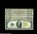 Small Size:World War II Emergency Notes, Fr. 2309 $10 1934A North Africa Silver Certificates. Six pieces, all bearing the late finished face plate 86. Two of the five gr... (6 notes)