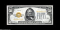 Small Size:Gold Certificates, Fr. 2404 $50 1928 Gold Certificate. Choice Crisp Uncirculated....