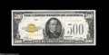 Small Size:Gold Certificates, Fr. 2407 $500 1928 Gold Certificate. Choice About Uncirculated....