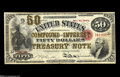 Large Size:Compound Interest Treasury Notes, Fr. 192b $50 1864 Compound Interest Treasury Note ExtremelyFine....
