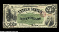 Large Size:Interest Bearing Notes, Fr. 198 $50 1863 Interest Bearing Note Fine, Restored....
