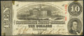 Confederate Notes:1863 Issues, T59 $10 1863 PF-19 Cr. 442 Very Fine.. ...