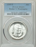 1949-S 50C Booker T. Washington MS65+ PCGS. PCGS Population: (756/626 and 12/68+). NGC Census: (304/430 and 6/17+). CDN:...