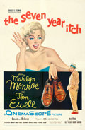 """Movie Posters:Comedy, The Seven Year Itch (20th Century Fox, 1955). Fine+ on Linen. One Sheet (27"""" X 41.5"""").. ..."""