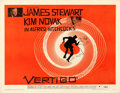 Movie Posters:Hitchcock, Vertigo (Paramount, 1958) Very Fine- on Paper. Hal...