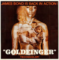 "Movie Posters:James Bond, Goldfinger (United Artists, 1964). Folded, Very Fine. Six Sheet (79"" X 80"").. ..."