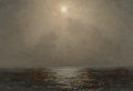 Fine Art - Painting, American, Ferdinand Earle (American, 1878-1951). The Sea in Moonlight,1903. Oil on panel. 6 x 8-1/2 inches (15.2 x 21.6 cm). Sign...