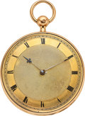 Timepieces:Pocket (pre 1900) , Leroy et Fils, Paris, Fine 18k Gold Quarter Hour Repeater, circa 1840. ...