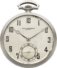 Paul Ditisheim, Solvil, Platinum & Diamond Pocket Watch, circa 1920
