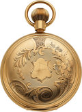 Timepieces:Pocket (post 1900), Samuel C. Tappin Troy NY 14k Gold 18 Size Modified Waltham DetentChronometer. ...