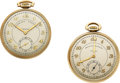 Timepieces:Pocket (post 1900), Two American Academy Denver School Watches, No. 5, No. 34. ...(Total: 2 Items)