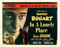 """Movie Posters:Film Noir, In a Lonely Place (Columbia, 1950). Fine+ on Paper. Half Sheet (22""""X 28"""") Style B.. ..."""