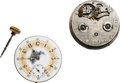 Timepieces:Other , D.B. Fitts Hollister Mass. Dual Barrel 8 Day Movement No. 31 (Warren Manufacturing) & Adams & Perry 20 Jewel No. 1296 With Rar... (Total: 2 Items)