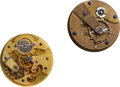 Timepieces:Other , John T. Gold Boston, (Dial Maker to Warren Mfg. and Waltham), Movement No. 0, Movement No. 3. ... (Total: 2 Items)